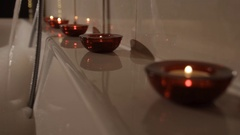 Aromatic Candle in Bath Stock Footage