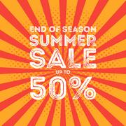 End of season summer big sale banner Stock Illustration
