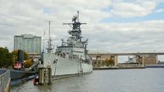 Buffalo, NY, USA: USS Croaker Diesel Submarine and Little Stock Footage