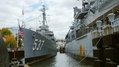 Buffalo, NY, USA: USS TheSullivans DD-537 Destroyer Stock Footage