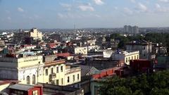 Skyline of the central Havana city with the Regla industry at background Stock Footage