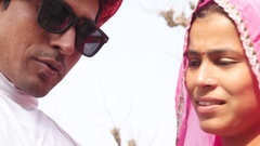 Indian couple playing around and having fun  Stock Footage