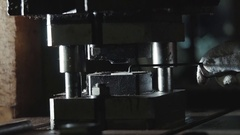 Stamping press Stock Footage