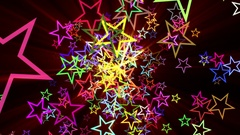 Colorful Disco Rays Stars Burst Psychedelic Motion Background Loop roll right Stock Footage