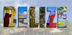 Belize images collage Stock Photos