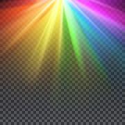 Rainbow glare spectrum with gay pride colors vector illustration Stock Illustration