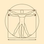 Leonardo da vinci vitruvian man form similar vector illustration Stock Illustration