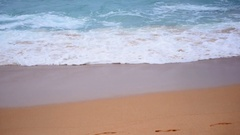 Slow motion seascape view of tropical beach in awesome pastel colors. Stock Footage