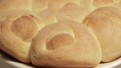 Fresh wheat bread fresh from the oven Stock Footage