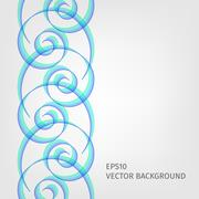 Abstract waved line background Stock Illustration