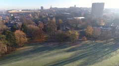 Rising aerial view of Wolverhampton. Stock Footage