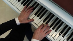 Hands of a pianist Stock Footage