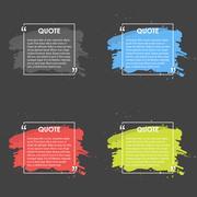 Quote text bubble. Commas, note, message and comment. Design element Stock Illustration