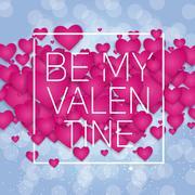Valentine's Day Heart Symbol. Love and Feelings Background Desig Stock Illustration