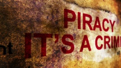 Piracy it is crime Stock Footage