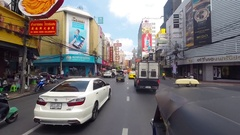 HD video from tuk tuk navigating traffic in Thailand Stock Footage