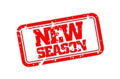 New season rubber stamp Stock Illustration