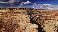 Canyon Road Aerial Shot of Southwest USA Rock Foramtion Stock Footage