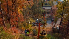 Downward skylift Gatlinburg Stock Footage