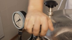 The Autoclave is Closed Tests Stock Footage
