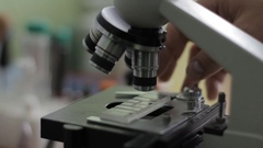Microscope Laboratory Analysis Stock Footage