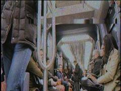 RATP interior of Paris Metro VHS tape Stock Footage
