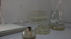 Chemical Experiments Fire Stock Footage