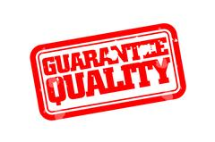Guarantee quality rubber stamp Stock Illustration