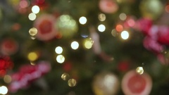 Christmas and New Year Decoration. Abstract Blurred Bokeh Holiday Background Stock Footage