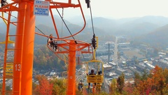 Down the Skylift Gatlinburg Stock Footage