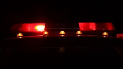 Flashing fire, police or ambulance lights, used by LAPD, california patrol, CSI, Stock Footage
