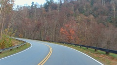 Driving in the Smokey Mountains 4k Stock Footage
