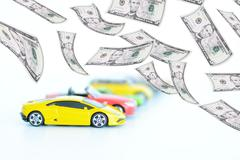 Evolution of the prices in automotive industry Stock Photos