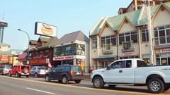 Pancake restaurants Gatlinburg Tennessee Stock Footage
