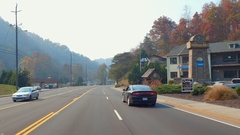 Driving through Gatlinburg Tennessee Stock Footage