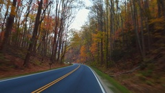Driving through the Smokey Mountains Stock Footage