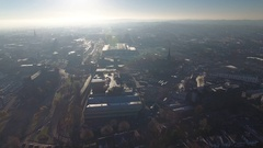 Static aerial view of Wolverhampton. Stock Footage