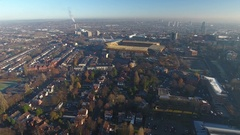 Static aerial view of Wolverhampton city centre, UK. Stock Footage