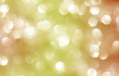 Abstract background with yellow and orange bokeh Stock Photos