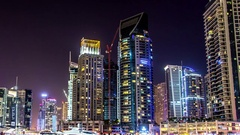 Keeping of yachts in Dubai.Time lapse.Dutch angle. Stock Footage