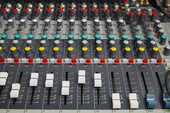 Audio Mixer Board Stock Photos