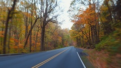 Stock footage driving in Smokey Mountains Gatlinburg 4k Stock Footage