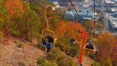 Tennessee Gatlinburg Skylift 4k Stock Footage
