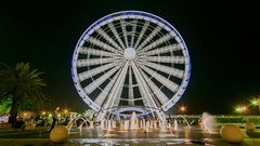 Sharjah Al Qasba Eye of the Emirates Stock Footage
