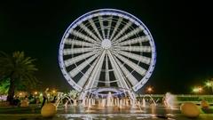 Sharjah Al Qasba Eye of the Emirates Stock Footage