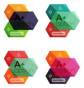 Set of vector abstract infographics content boxes Stock Illustration