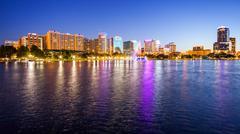 Orlando, Florida Nighttime Cityscape City Skyline Kuvituskuvat