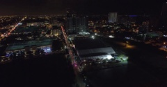 Aerial video Design District Miami Art Basel Stock Footage