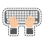 Isolated keyboard device design Stock Illustration