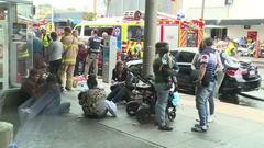 Terror explosion attack victims Stock Footage